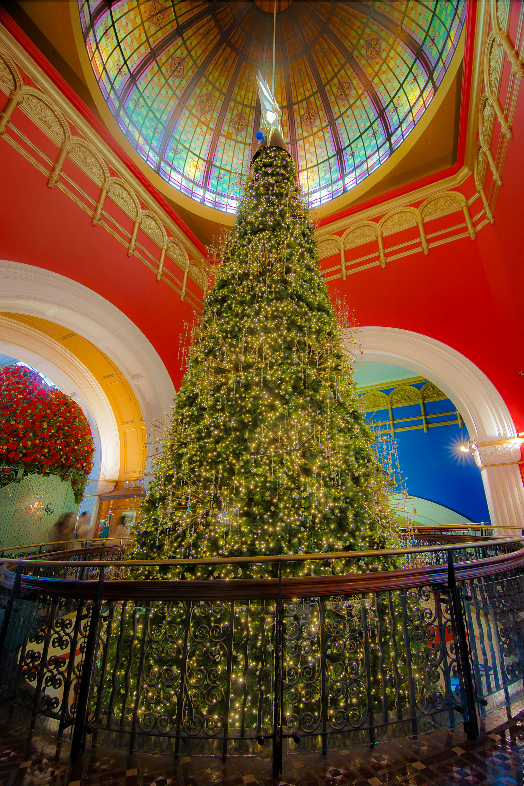I just want to wish everyone merry christmas and a happy New Year. This is one of the most impressive christmas trees I have ever seen. It was in Queen Victoria Building in Sydney and this is only the top. It goes over 3 different levels. You can see it from this view here